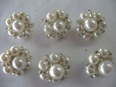 6 VINTAGE PEARL BUTTON by Toide on Etsy, $12.00