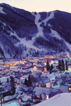 Night Lights of Telluride, Colorado