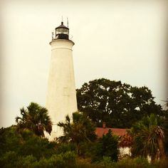 St. Mark's Lighthouse in Florida _ Florida's Forgotten Coast _ For vacation rentals in this area, visit www.facebook.com/debsrentals or www.alreadygonefishing.com.  #vacation #rental #travel