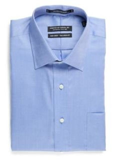 Forsyth of Canada Cornflower Tailored Fit Non-Iron Royal Oxford Dress Shirt
