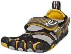 $109.95 KomodoSport Barefoot Shoes - Womens - 39 - BLACK / GOLD / GREY - With today's athlete in mind, Vibram FiveFingers has raised the intensity with the Vibram FiveFingers KomodoSport. This aggressive multisport design inherits what we love about the KSO with functional improvements that appeal to the most active fitness enthusiast.     Women's running sneaker    Unique Vibram Five Fingers cons ...