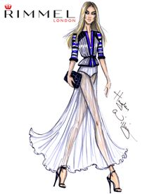 Rimmel London look 2. Inspired by the sheer fabrics and stripes seen at London Fashion Week today!