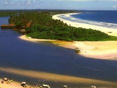 Bentota beach and ganga
