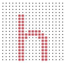 * Letter h! Monogram Alphabet, Phonics, Spelling, Language, Education, Words, School Stuff, Crossstitch, Dots