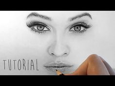 Tutorial | How to shade and draw realistic eyes, nose and lips with graphite pencils | Emmy Kalia - YouTube