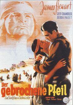 "Flecha rota (1950) ""Broken Arrow"" -Reparto James Stewart, Jeff Chandler, Debra Paget, Will Geer, Jay Silverheels, Arthur Hunnicutt,"