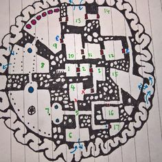 #dungeons and #dragons #maze #map