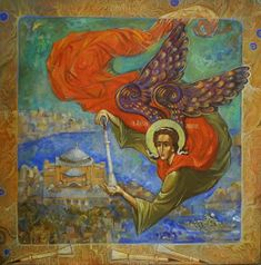 Is he placing it or removing it? Angel Artwork, Church Interior, Byzantine Icons, Adventure Is Out There, Pictures To Draw, Ancient Art, Madonna, Painting & Drawing, Saints