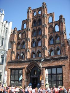 "Wismar's red-brick ""Schabbellhaus"" was built between 1569 and 1571 as a brewery and home of Mayor Schabbell."