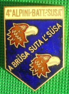 distintivo medaglia fregio alpini susa alpino raduno ana cappello