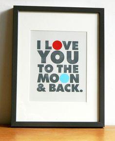 Ik hou van je tot het hou van je tot de maan de maan en door ArtMii