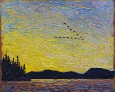 Round Lake, Mud Bay, fall 1915 - Tom Thomson