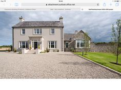 2 Storey House Design, Two Storey House, Bungalow House Design, Cottage Exterior, Modern Farmhouse Exterior, Farmhouse Design, External Render, House Designs Ireland, Dormer House