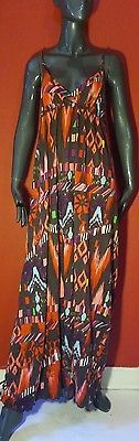 Old Navy multi color patterned summer maxi dress size Medium M