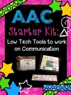 AAC Starter Kit: Lots of low tech tools to use to work on communication with non-verbal and/or limited expressive language! Pinned by www.thedabblingspeechie.com