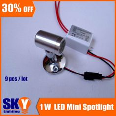 Free shipping! mini 1*1w LED spot lamp,Jewelry /Red Wine display lighting,100lumen,AC110~240V,surface mounted /recessed mounted