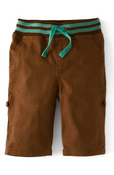 Mini Boden 'Laundered' Canvas Roll-Up Pants (Baby Boys) available at #Nordstrom