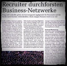 Active Sourcing fängt an zu nerven; in Österreich kommen auf 1 Recruiter 44 Mitglieder (German)