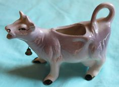 Purple Cow Creamer w/ Bell Lilac Lavender by SimpleFascinations, $12.00 Lilac, Lavender, Purple Cow, Cow Creamer, Piggy Bank, Canning, Board, Funny, Vintage
