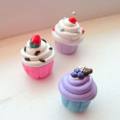 How to make polymer clay cupcake charms