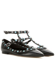 Valentino Valentino Garavani Starstudded Leather Ballerinas For Spring-Summer 2017