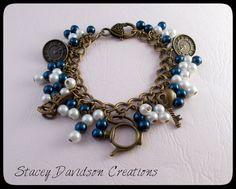 Alice in Wonderland blue charm bracelet/Alice by StaceyDCreations