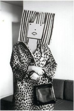Saul Steinberg was a cartoonist for The New Yorker, and Inge Morath was a photographer. Steampunk Mode, Bühnen Design, Graphic Design, Inge Morath, Saul Steinberg, Plakat Design, Creation Art, Paper Mask, Photocollage