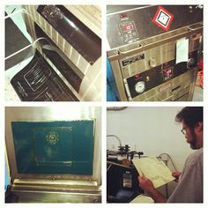 Letterpress process in action!