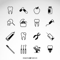 Pack de iconos de dentistas