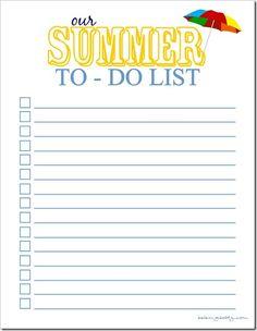 Summer Planner {Free Printable}