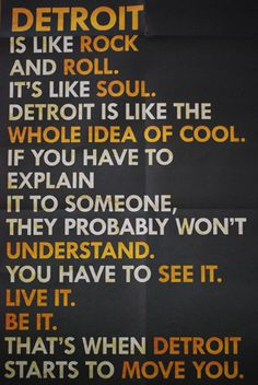 """This poster is behind the neon """"Nothing Stops Detroit"""" sign in the picture I took of the #DetroitShoppe store front window. *I didn't take this image. ~cdesign007"""