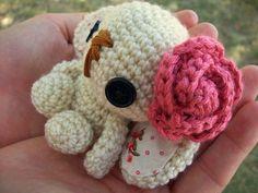 Lulu the Amigurumi Bunny  Ivory by WyandotteWears on Etsy, $7.00
