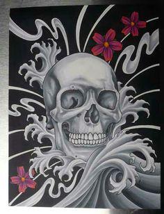 Japanese-style Skull print