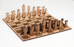 This is the minimalist and portable wooden chess set. Would be looking great as a gift or for your own pleasure.