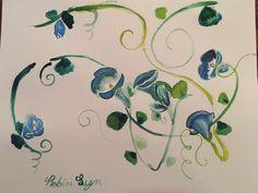 #inkpainting #ink #paintimg #flowers #robin #lyn #robinlyn