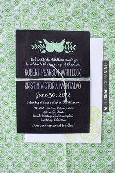 So awesome - black and green wedding invitaitons | CHECK OUT MORE GREAT GREEN WEDDING IDEAS AT WEDDINGPINS.NET | #weddings #greenwedding #green #thecolorgreen #events #forweddings #ilovegreen #emerald #spring #bright #pure #love #romance