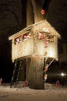 xmas treehouse