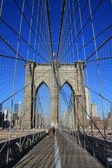 映画やドラマの舞台にもなったブルックリンブリッジ。マンハッタン観光のおすすめ
