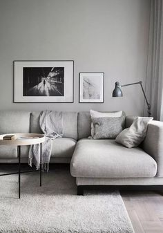 50 Afforable Small Apartment Living Room Ideas On A Budget Awesome 50 Afforable Small Apartment Livi Apartment Living Room Design, Living Room Colors, Living Room Scandinavian, Simple Living Room, Small Apartment Living Room, Trendy Living Rooms, Living Room Grey, Living Room Design Inspiration, Dream Living Rooms