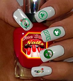 Boston Celtics fans! For You: Set of 68 Clear Waterslide Nail Decals with Boston Celtics Art and Logos. NBA BC-001-68 by One Stop Nails -- This is an Amazon Affiliate link. Learn more by visiting the image link.
