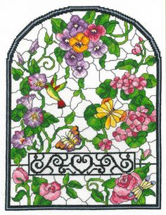 Summer Stained Glass - http://www.123stitch.com/item/Imaginating-Summer-Stained-Glass-Cross-Stitch-Pattern/13-1568