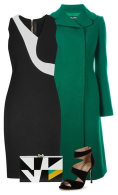 """""""Green Coat"""" by dazzling-dazed-dayz ❤ liked on Polyvore featuring Dolce&Gabbana, Roland Mouret, Carvela and Charlotte Olympia"""