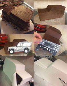 Landrover cake tutorial https://www.facebook.com/Custom-Cakes-By-Elena-735530013211452/