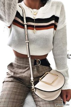 FOREVER 21 Structured Crossbody Saddle Bag #AD #fashion