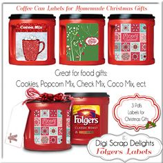 Here is a great frugal gift idea:   Folgers plastic resealable coffee containers are durable and have a handy indent for a handle. Its a super idea for gift giving. Fill with Bird seed, crayons, ba...