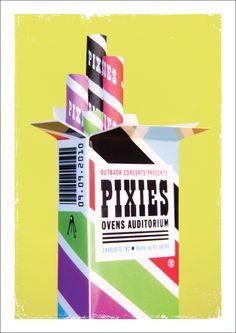 Pixies - Oven Auditorium 2010 Gig Poster