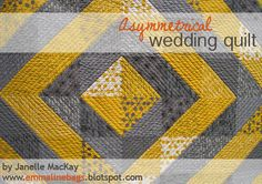 Emmaline Bags:  Sewing Patterns and Purse Supplies: A Comma Quilt Finish - An Asymmetrical Wedding Qui...