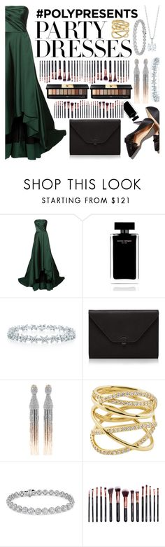"""#PolyPresents: Party Dresses"" by joeyaudi ❤ liked on Polyvore featuring Jason Wu, Narciso Rodriguez, Valextra, Oscar de la Renta, Lana, Blue Nile, M.O.T.D Cosmetics, Yves Saint Laurent, contestentry and polyPresents"