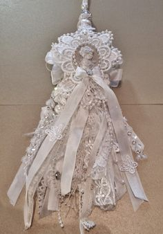 annes papercreations: Shabby Chic Lace Tassel Tutorial by Anne Rostad