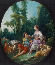 Boucher, Are They Thinking about the Grape? (Pensent-ils au raisin?), 1747